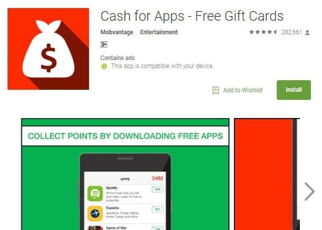 Aplikasi Penghasil Uang, Cash Gift